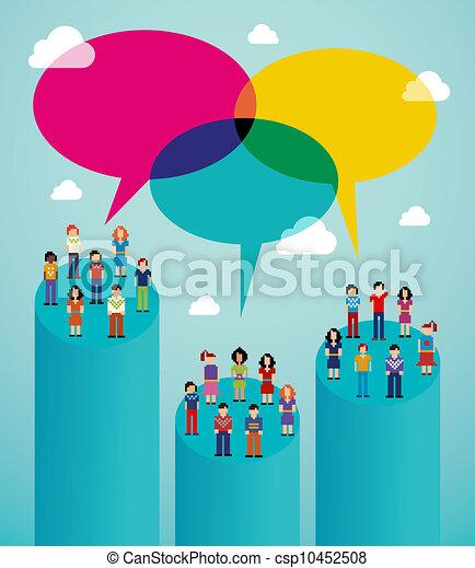 wirusowy, sieć, ludzie, komunikacja, globalny, towarzyski - csp10452508