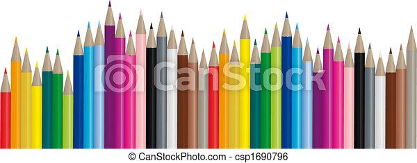 wizerunek, kolor, ołówki, -, wektor - csp1690796