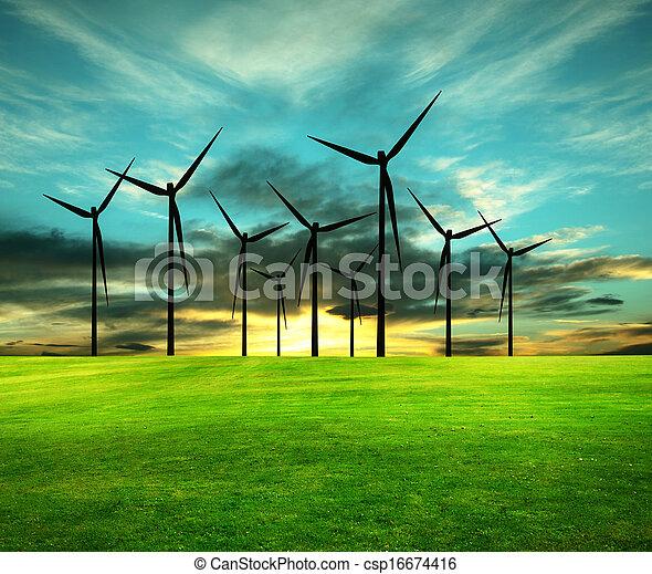 wizerunek, konceptualny, eco-energy - csp16674416