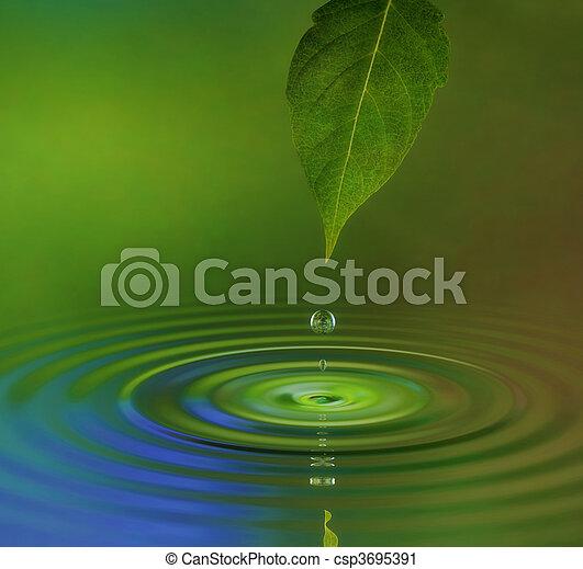 woda marszczenie się wody - csp3695391