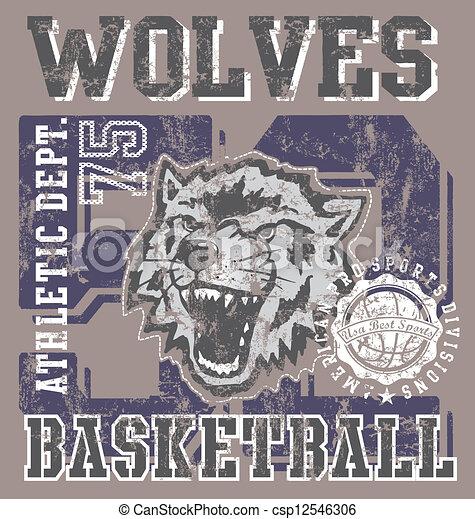 wolves, basketball zaprzęg - csp12546306