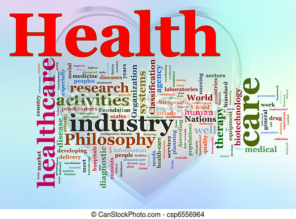 wordcloud, healthcare - csp6556964