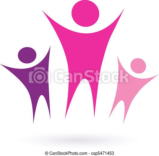 współposiadanie, /, kobiety, ikona, grupa - csp5471453