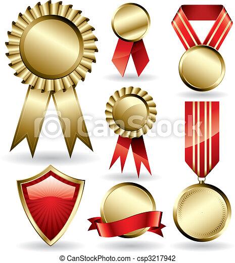 wstążki, nagroda - csp3217942