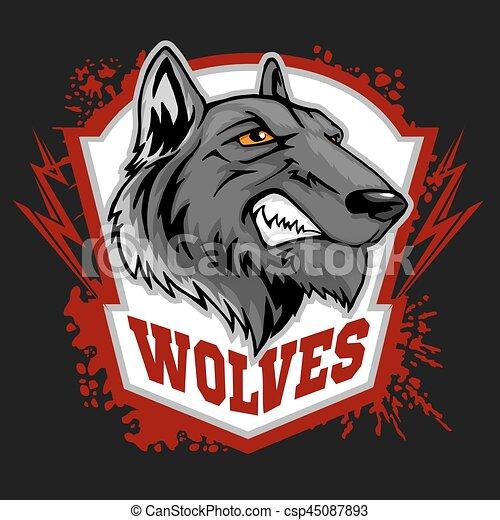 wycie, wolves, wolf., mascot., lekkoatletyka - csp45087893