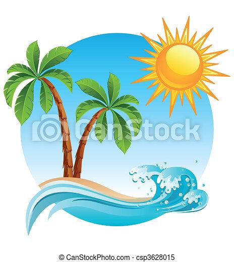wyspa, tropikalny - csp3628015