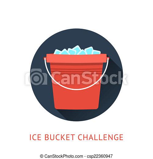 wyzwanie, pojęcie, wiadro, als, lód - csp22360947