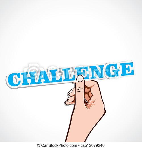 wyzwanie, słowo, ręka - csp13079246