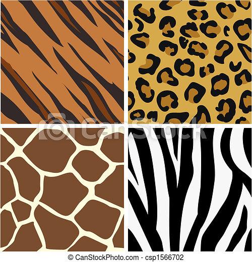 wzory, druk, seamless, dekarstwo, zwierzę - csp1566702