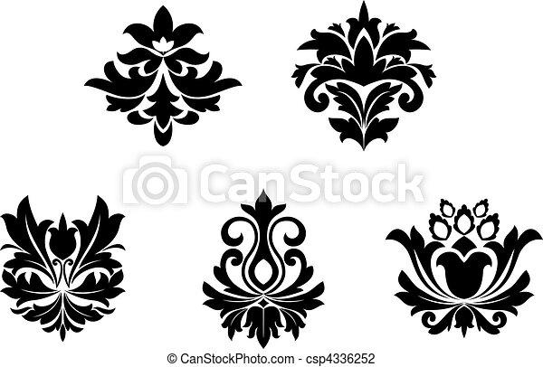 wzory, kwiat - csp4336252