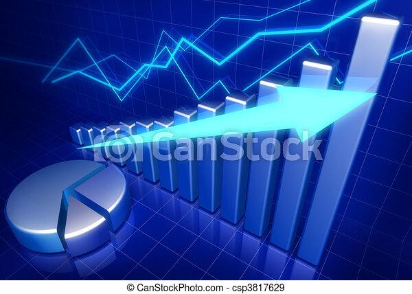 wzrost, handlowe pojęcie, finansowy - csp3817629