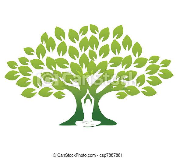 yoga, drzewo - csp7887881