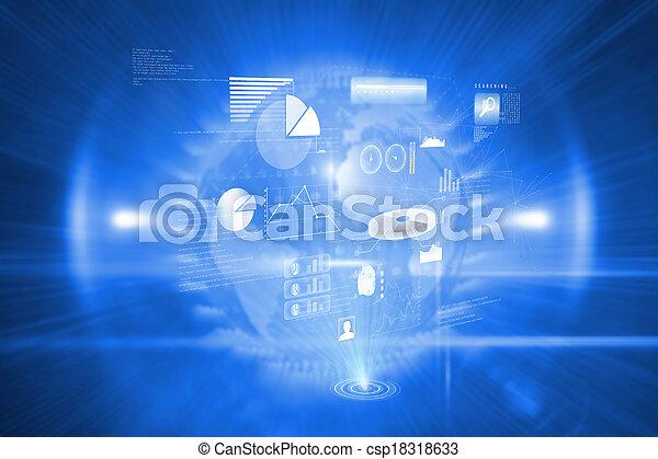 złożony, technologia, tło, dane, wizerunek - csp18318633
