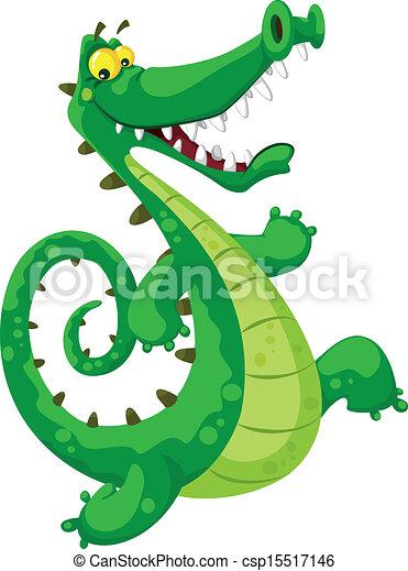 zabawny, krokodyl - csp15517146