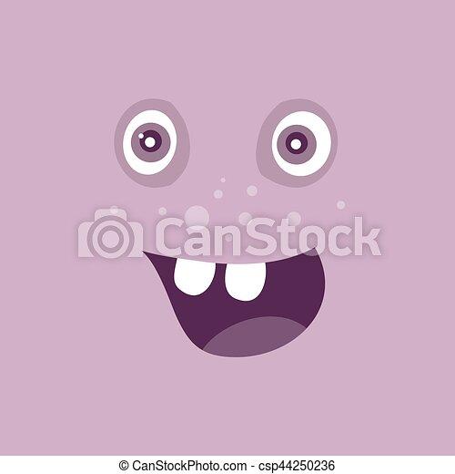 zabawny, potwór, litera, uśmiech, uśmiechanie się, bacteria - csp44250236