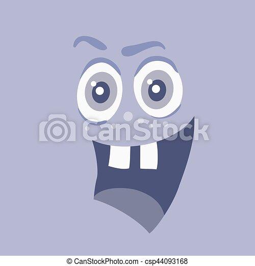 zabawny, potwór, litera, uśmiech, uśmiechanie się, bacteria - csp44093168
