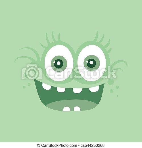zabawny, potwór, litera, uśmiech, uśmiechanie się, bacteria - csp44250268