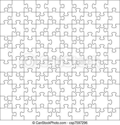 zagadka, wyrzynarka, 100, kawałki - csp7597296
