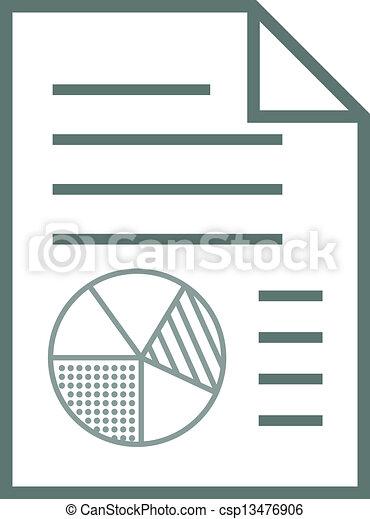 zameldować, elementy, wykres, ikona - csp13476906