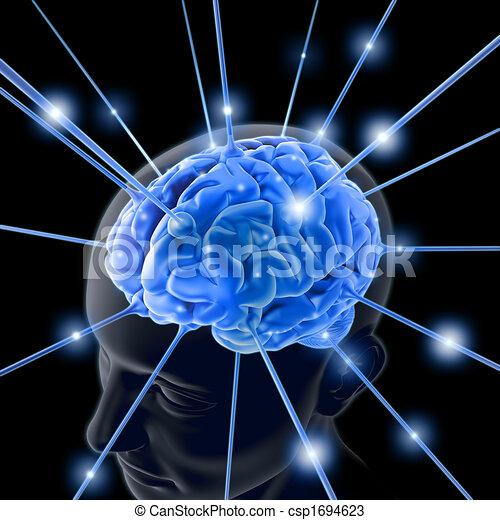 zasilony energią, mózg - csp1694623