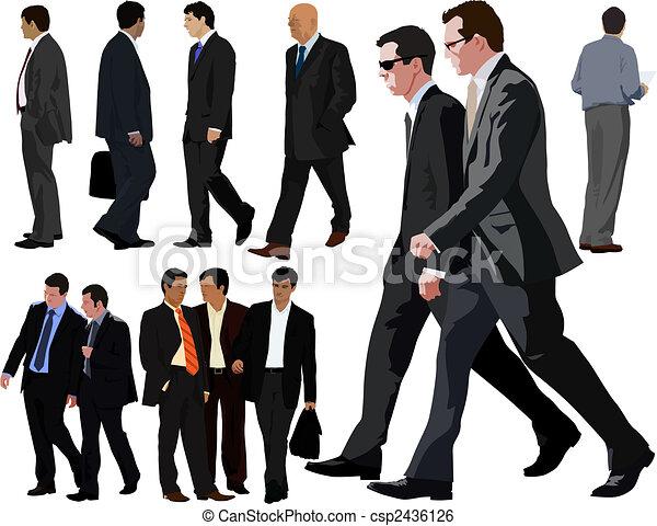 zbiór, biznesmen - csp2436126
