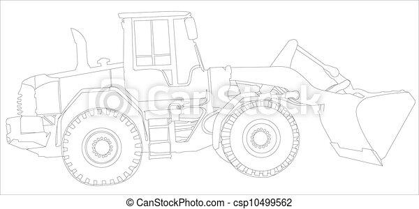 zbudowanie, maszyny, szkic - csp10499562