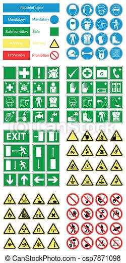 zdrowie, &, bezpieczeństwo, ryzykować, znaki - csp7871098