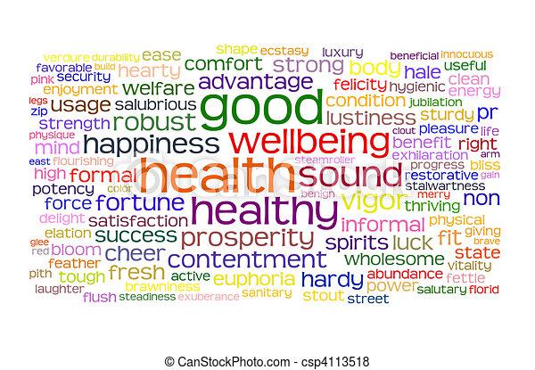 zdrowie, dobry, wellbeing, chmura, skuwka - csp4113518