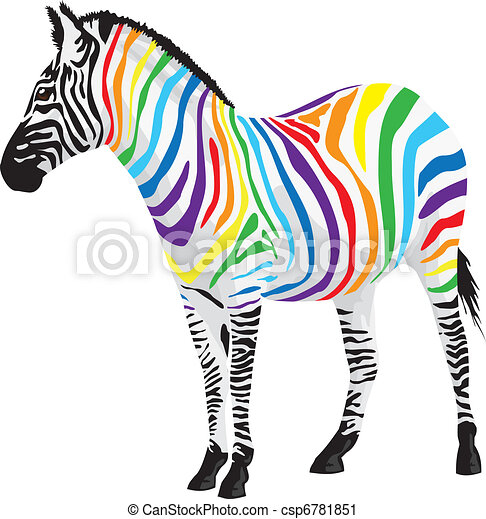 zebra., różny, obnaża, colors. - csp6781851