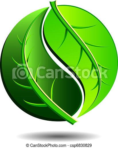 zielony, ikona - csp6830829
