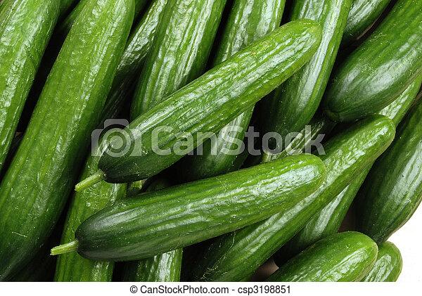 zielony, ogórek - csp3198851