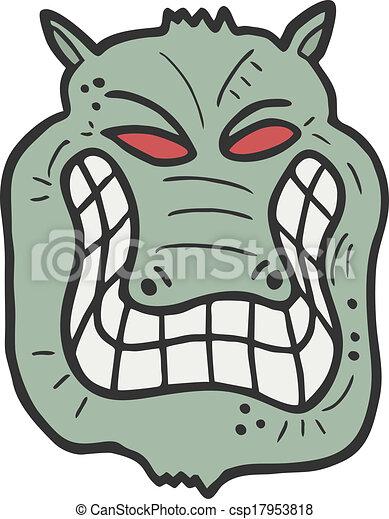 zielony potwór - csp17953818
