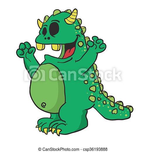 zielony potwór - csp36193888