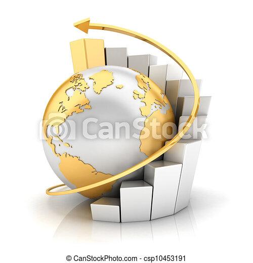 ziemia, zasuńcie mapę morska, handlowy, 3d - csp10453191