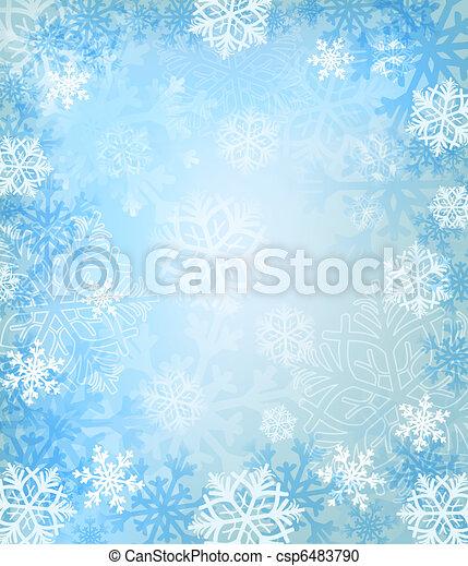 zima, tło - csp6483790