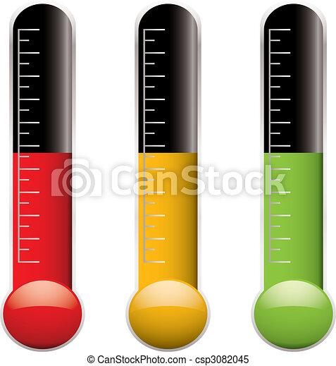 zmiana, termometr - csp3082045