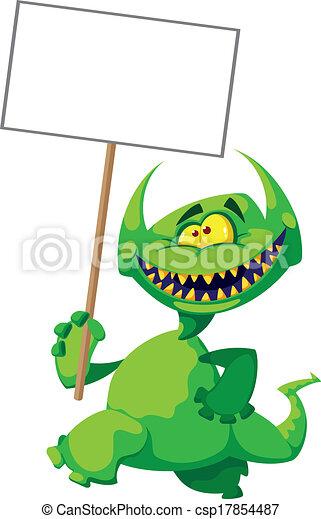 znak, potwór, uśmiech - csp17854487