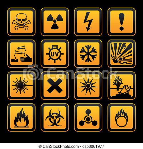znak, vectors, ryzykować, symbolika, czarne tło, pomarańcza - csp8061977